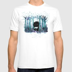 A Quiet Spot White Mens Fitted Tee 2X-LARGE
