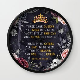 Three Dark Crowns Wall Clock