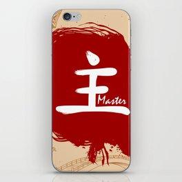 Japanese kanji - Master iPhone Skin