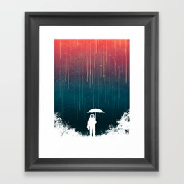 Meteoric rainfall Framed Art Print