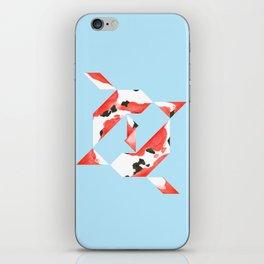Tangram Koi - Blue background iPhone Skin