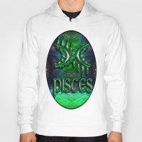astrology Hoodies featuring Pisces Zodiac Sign Astrology by CAP Artwork & Design
