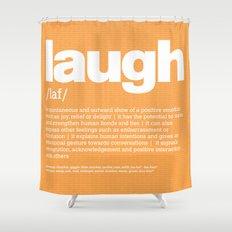 definition LLL - Laugh Shower Curtain