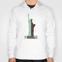 fringe Hoodies featuring Fringe. Statue of Liberty by Prosha Pro