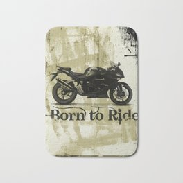 Born to Ride Bath Mat