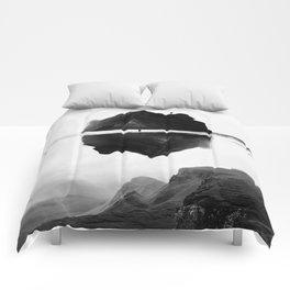 Black and White Isolation Island Comforters