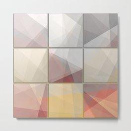 Abstract triangle art Metal Print