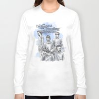 cyrilliart Long Sleeve T-shirts featuring The Brotherhood of the Traveling Sweater by Cyrilliart