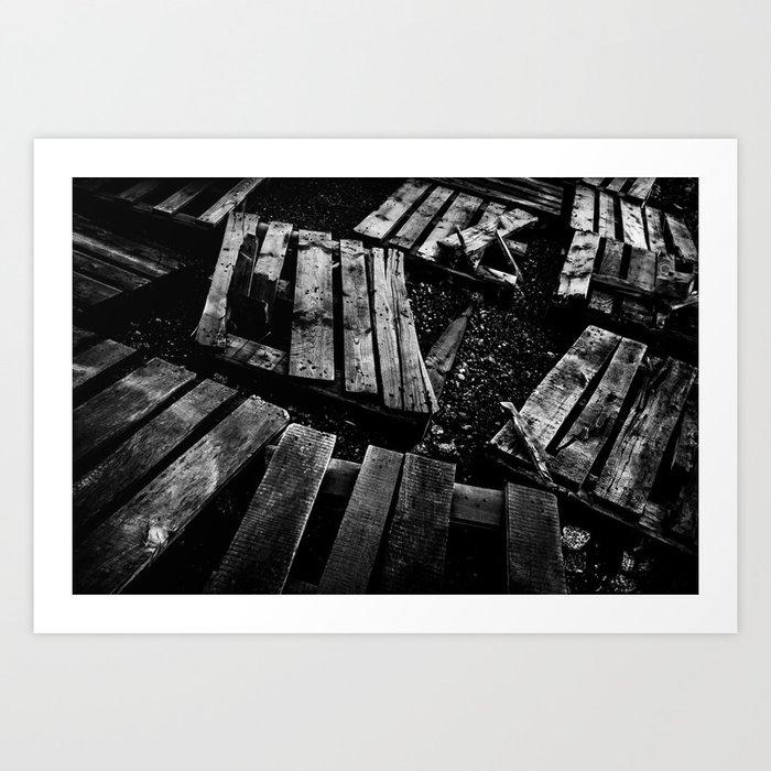Crumbled Art Print