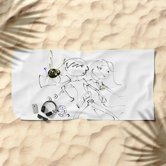 jump ! Beach Towel