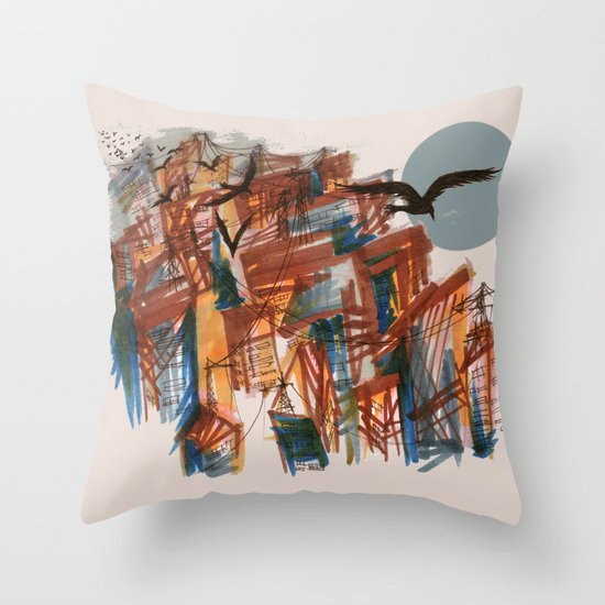 The City pt. 2 Throw Pillow