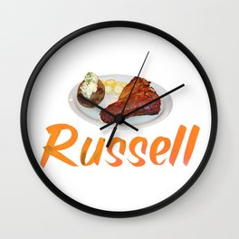 Russell Spudder Steak Wall Clock