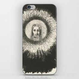 Odilon Redon - And in the disc of the sun the face of Christ shone iPhone Skin