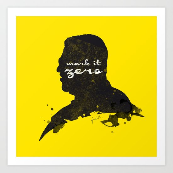 Mark it Zero –Walter Sobchak Silhouette Quote Art Print