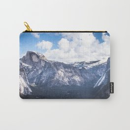 Yosemite Valley in Winter with Blue Sky Carry-All Pouch