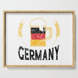 Germany Pride German Flag Beer Lover Oktoberfest Serving Tray