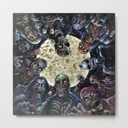 Zombies attack (zombie circle horde) Metal Print