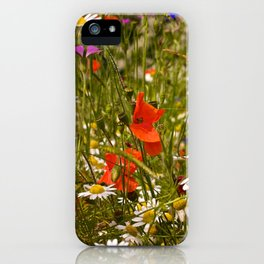 English Meadow Flowers iPhone Case