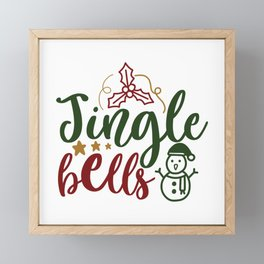 Jingle Bells - Funny Christmas humor - Cute typography - Lovely Xmas quotes illustration Framed Mini Art Print