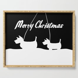 Westie White Christmas Serving Tray