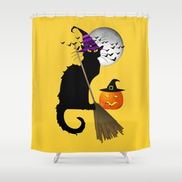 Le Chat Noir - Halloween Witch Shower Curtain