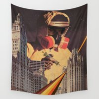 metropolis Wall Tapestries featuring Vaccination of Metropolis by Dan Howard