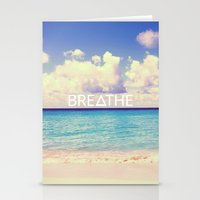 breathe Stationery Cards featuring BREATHE by Good Sense