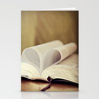 bible Stationery Cards featuring Love Bible by Vintage Rain Photography