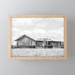 Saluda Barn No. 15 B&W Framed Mini Art Print