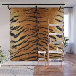 Faux Siberian Tiger Skin Design Wall Mural