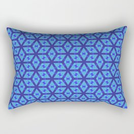 Sharp Blue Petals Rectangular Pillow