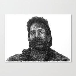 glass chin Canvas Print