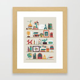 The shelf Framed Art Print