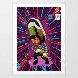 MIKE SHINODA DC ( MSDC ) Art Print