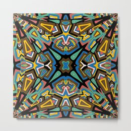 Abstract colored mosaic Kaleidoscope background Metal Print