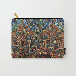 Juju Dance Group painting of African voodoo dance Carry-All Pouch