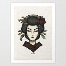 Painted Face Series : Geisha Art Print