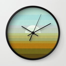 Minimalist watercolor landscape IV Wall Clock