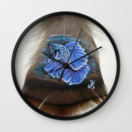 Lovely Betta Fish Wall Clock