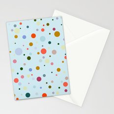 Blue Confetti Stationery Cards