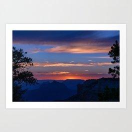 Colorful Sunset - North_Rim, Grand_Canyon, AZ Art Print