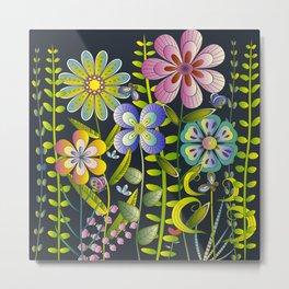 Petty Flowers Pattern 1 Metal Print