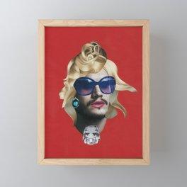 Emile Hirsch as a natural blonde Framed Mini Art Print