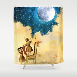 Painting Stars Shower Curtain
