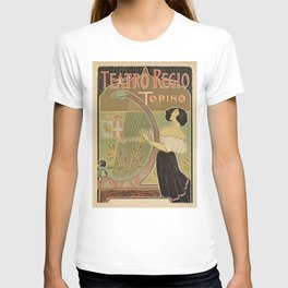 Art nouveau Royal Opera House Turin Torino T-shirt