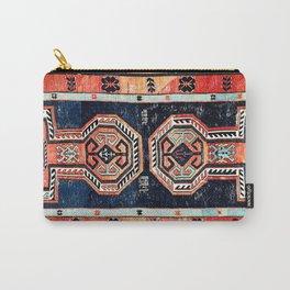 Davagin  Antique Daghestan East Caucasus Kilim Print Carry-All Pouch