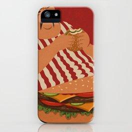 burger man iPhone Case