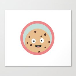chocolate cookie with red circle Canvas Print