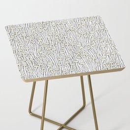 Enokitake Mushrooms (pattern) Side Table