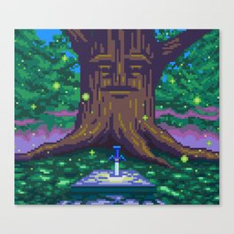 Master Sword Beneath the Great Deku Tree Canvas Print